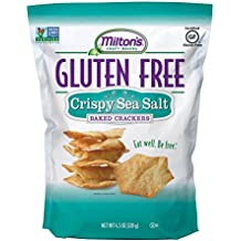Milton's Craft Bakers Gluten-free Baked Crackers, Sea Salt 4.5 Ounce (Pack of 3)