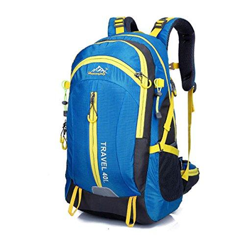 LQABW Viaje Aire Libre Paquete Mujeres 40L Del Alpinismo Litros Profesional Bolsa De Hombro Impermeable Y Transpirable Hombres Mochila De Viaje,Blue Blue