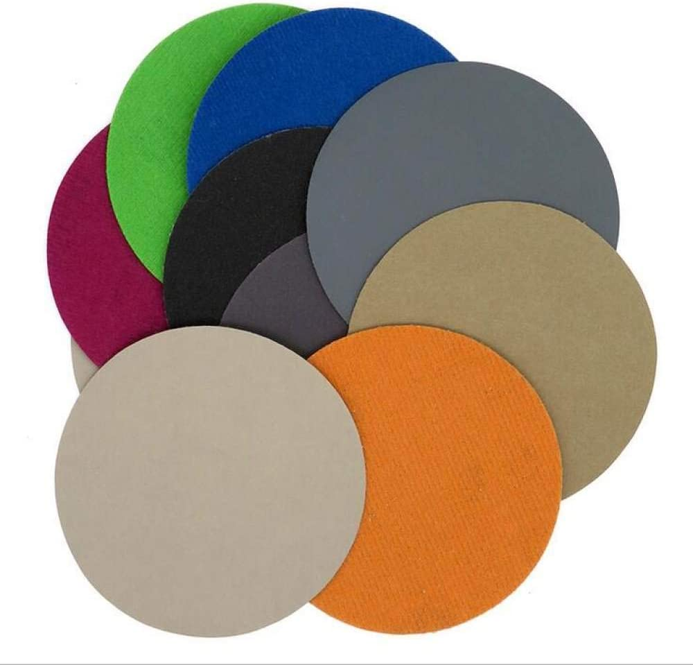 GFHDGTH 100pcs 6 Inch 150mm Water Wet Dry Round Sandpaper Disk,Sand Sheets Grit 40-2000 Hook Loop Sanding Disc for Sander Grits,Grit 100 Grit 240