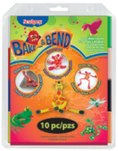 Bend Clay (Sculpey Bake and Bend Clay, Multicolor, 10-Pack)