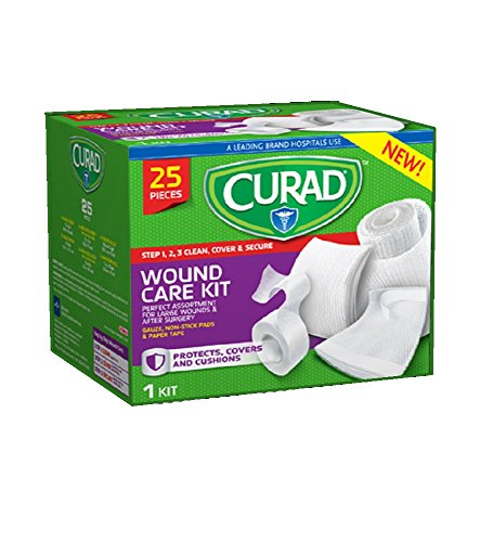 Curad Wound Care Kit 25 PC 3 Steps (2 Pack) by Curad