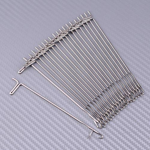 20Pcs/Set Silver Knitting Machine Hook Needles Fit For Reed Singer Studio Empisal Knitmaster LK150 LK360