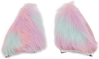 Amorar Moda Fox Ear Haircrip Hairgrips Hairclip Ragazze Colore Peluche Tornante Hairclip Copricapo Costume Accessori per Capelli Cosplay Party Headwear Headpie