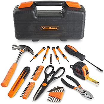VonHaus 39-Piece General Household Tool Kit with Case