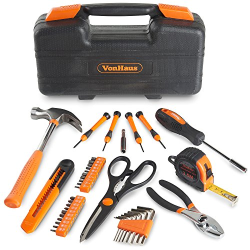 VonHaus Orange 39 Piece General Tool Set - Home Hand Tool Kit with Plastic Toolbox Storage Case by VonHaus (Image #1)