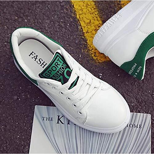Verde Mujer Poliuretano Zapatos Flat Verano Cerrado Negro del Heel Dedo Comfort ZHZNVX Primavera de PU pie Sneakers Black Rosa aSqIwn