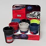 "Automotive : Black Duck Brand Set of 6 Butt Bucket Plastic Ashtray Assorted Colors 4-1/4"" x 3"" (Set of 6 Plastic)"