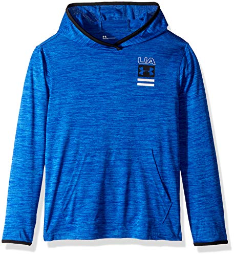 Hoodie Island Kids - Under Armour Boys' Little Pull Over Hoody with Pocket, Royal Twist, 6