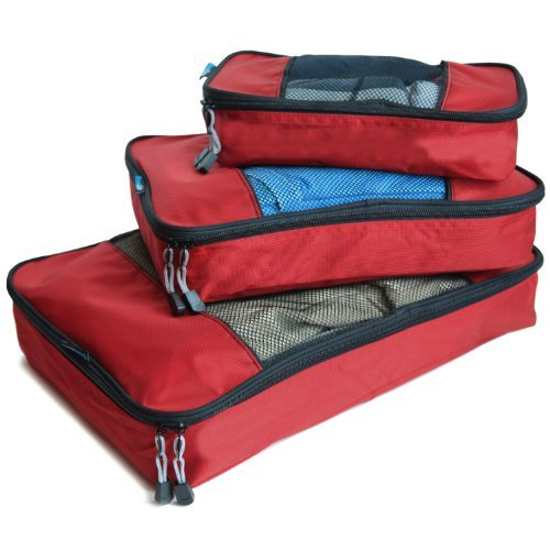 - TravelWise Packing Cubes - 3 Piece Set (Red)