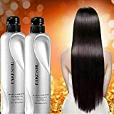 (Size 618 ml X 2 Bottles) Fakeshu Keratin dry damaged hair repair Treatment Keratin Treatment 100% pure glass hair treatment for damaged hair.