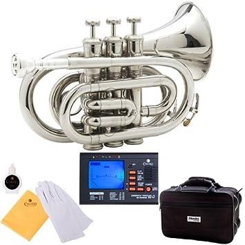 Amazon.com: Trompeta de bolsillo Mendini MPT de latón ...