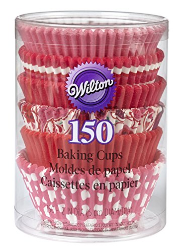 Wilton Valentine Multi-Pack Standard Baking Cups, 150-Pack ()