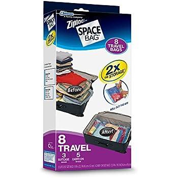 Ziploc Brand Space Bags 8 Travel Bags