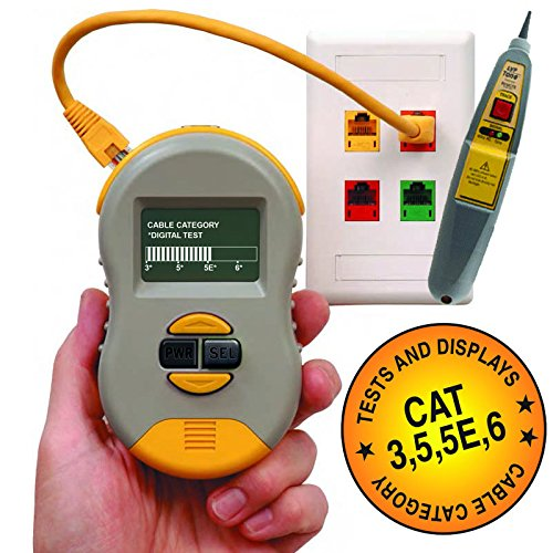 image relating to Cat6 Cable Tester With Printable Results named Triplett / Byte Brothers RWC1000K2(CS) CAT5 CAT5e CAT6 Cable - Import It All