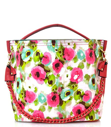 2 In 1 Watercolor Flower Print Shoulder Bag(80559f2fu)
