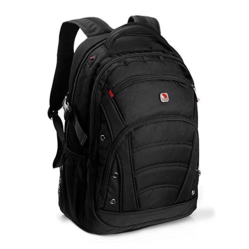 SEAGULL Black Laptop Backpack for up to 15.6 inch laptops/1680D High...