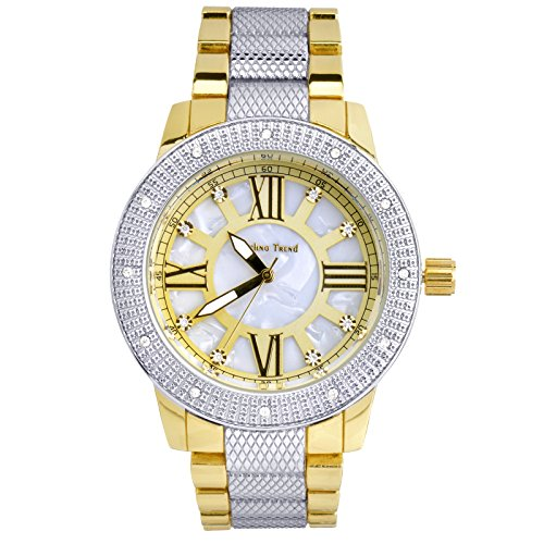 Luxury Hip Hop Iced Out Rhodium Plated Metal Band Techno Pave Watches WM 1298 TT