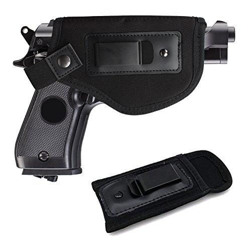 Universal IWB Holster For Concealed Carry | Inside The Waistband Holster | BONUS Mag Holster | Magazine Holster | Fits all firearms S&W M&P Shield 9/40 1911 Taurus PT111 G2 Sig Sauer Glock 19 17 27 43 (Extended Mag)