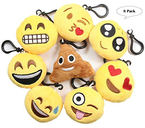 Cute Emoji Keychain Plush Sets- Poop, 2