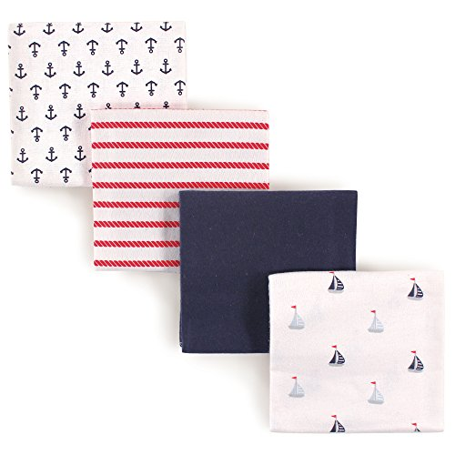 Luvable Friends 4 Piece Flannel Receiving Blankets, Sailboat ()