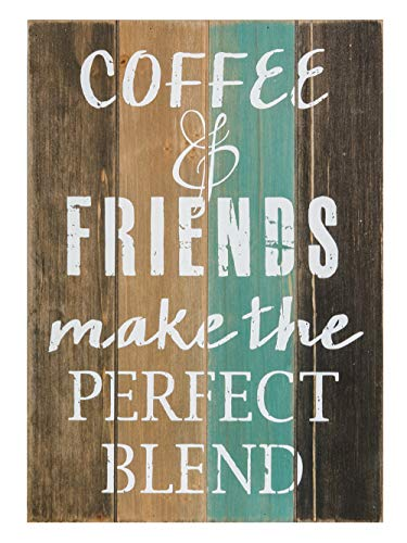 Wooden Decorative Sign - Coffee & Friends - 11