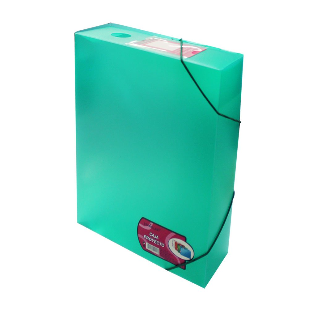con solapas y cierre de goma el/ástica Set de 2 carpetas proyecto de pl/ástico 140118 ideal para guardar documentos tama/ño A4 blanco colores verde fucsia y azul