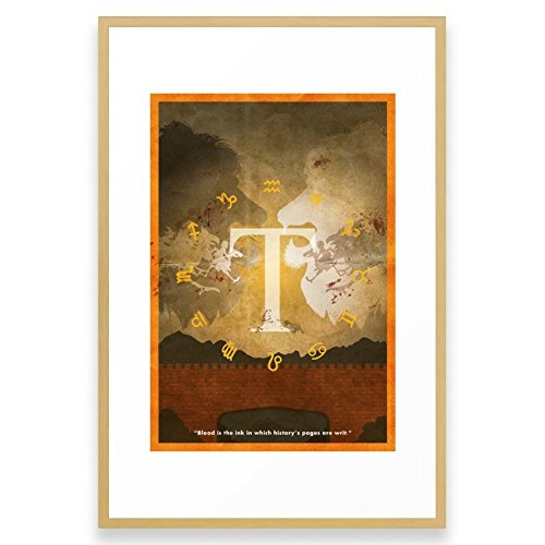 Society6 Vintage FF Poster: Final Fantasy Tactics Framed Print Conservation Natural LARGE (Gallery)