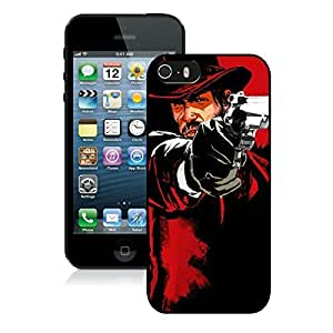 Game Case,Easy Use Case Red Dead Redemption Game Pistol Cowboy Hat Cover Case for iphone 5 5s 5th in black