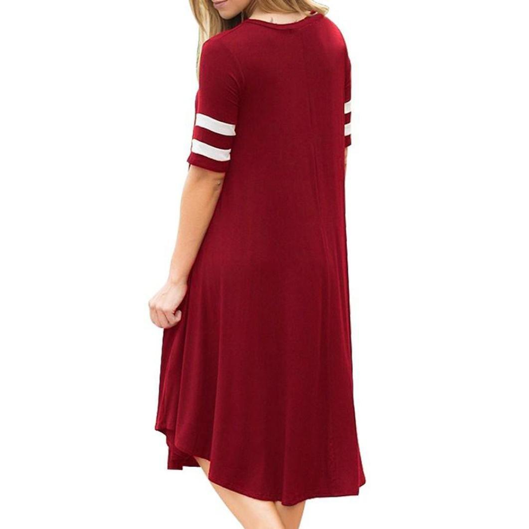 Cinnamou vestido de manga corta de las mujeres elegante vestidos mujer fiesta largos rayas vestidos de largos fiesta de noche moda ropa mujer 2018: ...