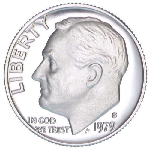 1979 S Proof Clad Roosevelt Dime PF1