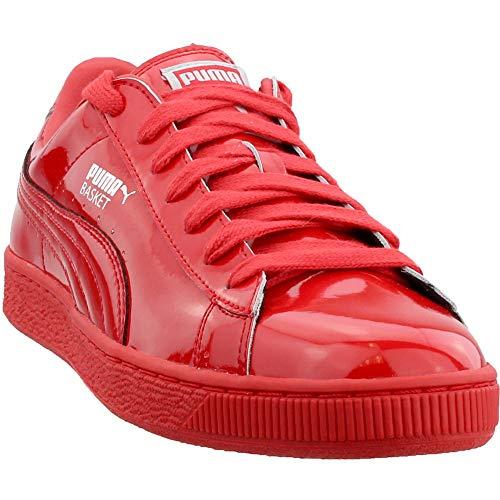 (PUMA Men's Basket Matte & Shine Fashion Sneaker High Risk Red S, 9 M)