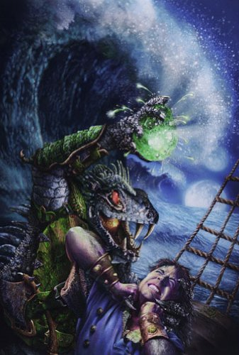 Dragon Art-Brian W. Dow Cover Art for Tides-Inkjet-11