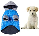 Yunt Pet Dog Clothes Hoodie Warm Apparel Blue Padded Coat Outwear Jackets Costumes(X-Small) Review