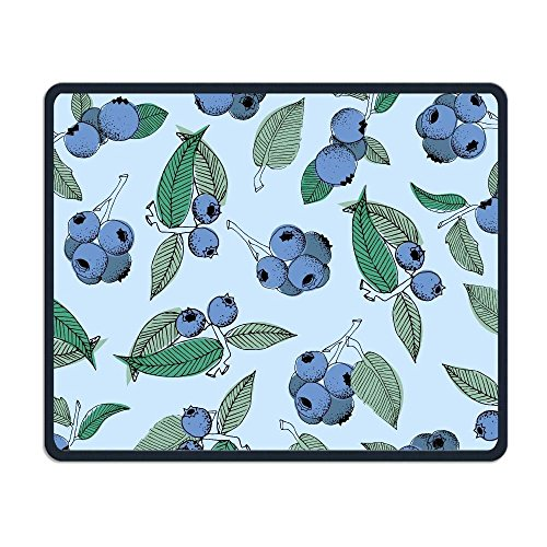 (Pistachio Ricotta Salad Non-Skid Unique Designs Gaming Mouse Pad Black Cloth Rectangle Mousepad Art Natural Rubber Mouse Mat with Stitched Edges)