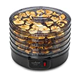 NutriChef Food Dehydrator Machine - Professional Electric Multi-Tier Food Preserver, Meat or Beef Jerky Maker, Fruit & Vegetable Dryer with 5 Stackable Trays
