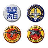"""Ata-Boy Firefly Assortment #1 Set of 4 1.25"""" Collectible Buttons"""