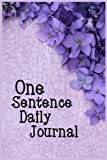 One Sentence Daily Journal: 5 Years Of Memories, Blank Date No Month, 6 x 9, 365 Lined Pages