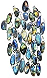 Fashion Jewelry,Valentine's Day Gift 50 PCS. 925 STERLING SILVER PLATED PENDANT LABRADORITE