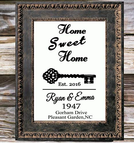 Image Unavailable & Amazon.com: Home Sweet Home Canvas Print Antique Key sign Couple ...