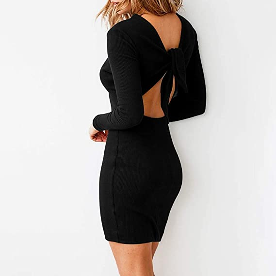 meibax Mode Mujer Vestido para mujer Chic Sexy dos abierto ...