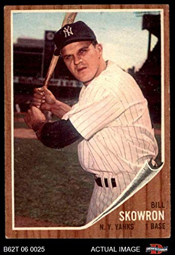 1962 Topps # 110 NRM Bill Skowron New York Yankees (Baseball Card) (Normal Tint) Dean's Cards 4 - VG/EX Yankees ()