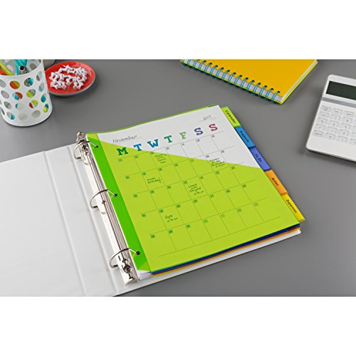 avery big tab insertable plastic dividers with pockets  5
