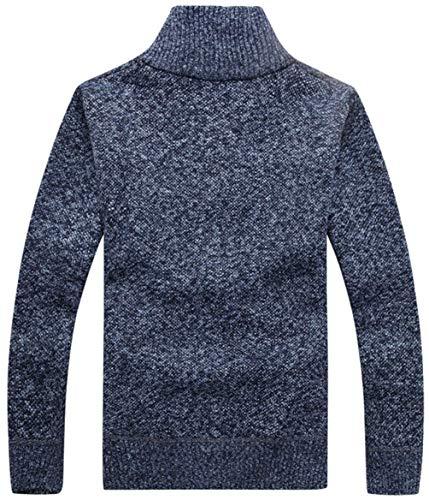 Moderna In Foderato Alta Caldo Uomo Di Cappuccio Invernale Cappotto Cardigan Qualità Classico Felpa Cashmere Con Cotone Blau Haidean Da Navy Collo Casual jRq354LA