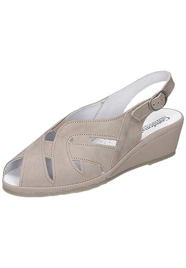 Comfortabel Damen-Sandale Beige 710827-8, Grösse 39