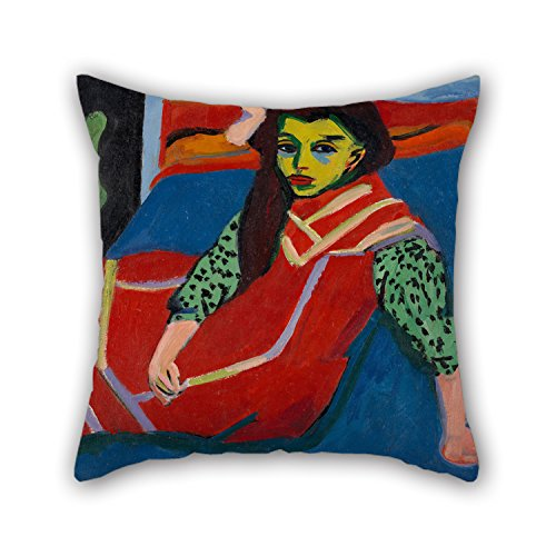 [Artistdecor Cushion Cases 18 X 18 Inches / 45 By 45 Cm(twice Sides) Nice Choice For Living Room,bench,wife,boys,teens,home Theater Oil Painting Ernst Ludwig Kirchner - Seated Girl (Fränzi] (Rock And Roll Costumes Diy)