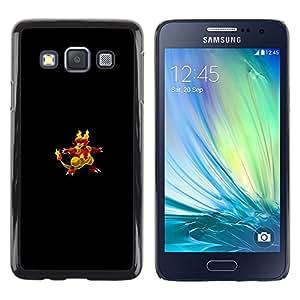 EJOY---Cubierta de la caja de protección la piel dura para el / Samsung Galaxy A3 / --Flaming empuje Pato