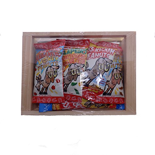 Spicy Hot Gourmet Snack Gift Set - Gift Boxed in Reusable Wooden Crate