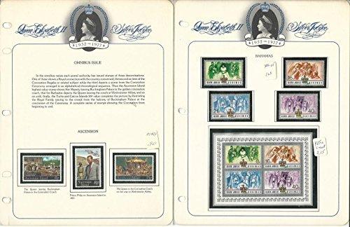 British 1977 Silver Jubilee Queen Elizabeth Omnibus Issue, 5 Album Pages