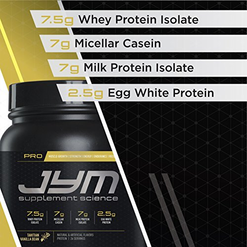 JYM Supplement Science, PRO JYM, An optimal Blend of Whey, Casein, and Egg Proteins, Banana Cream Pie, 4lb Protein
