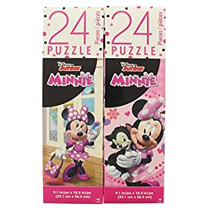 Useful Universe 2 Pk. Disney Minnie Mouse 24 Piece Puzzle (Assorted Styles)